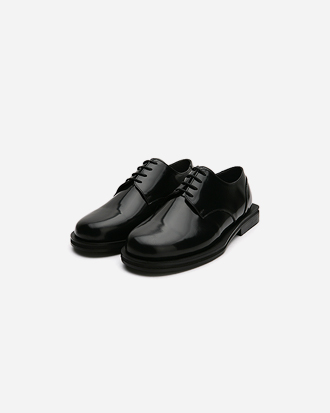 square heel oxford